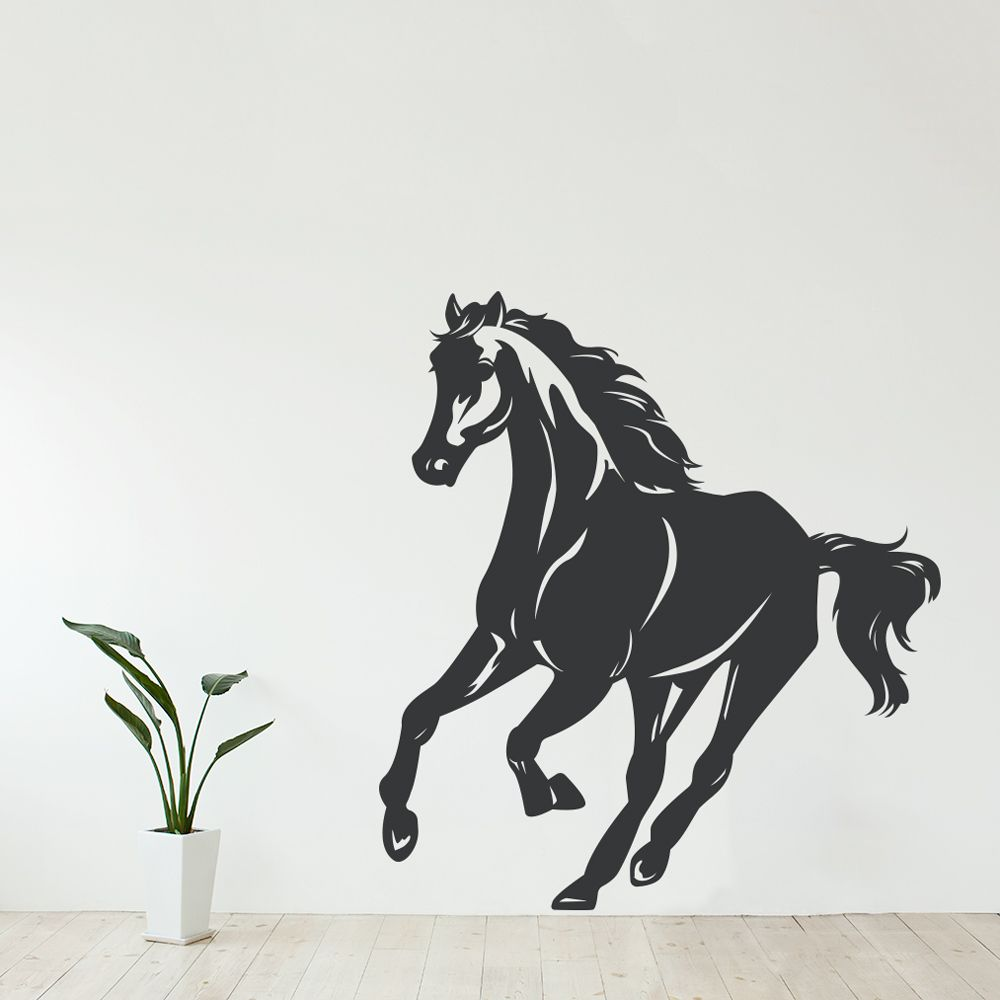 galloping horse wall decal horse wall art horse wall on wall stickers id=22427