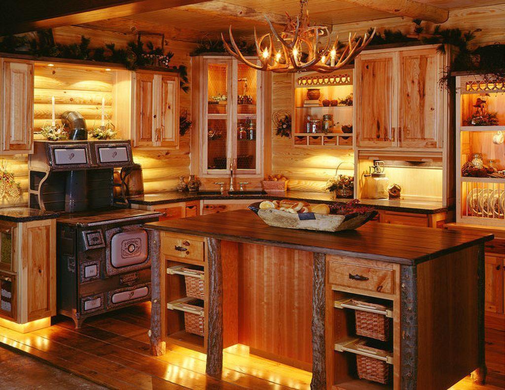 Log Cabin Kitchen Ideas 67 | Shabby, Küche und DIY und Selbermachen