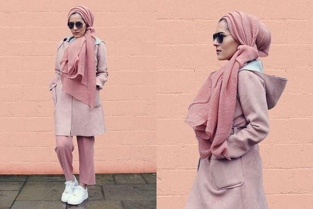 ازياء محجبات اعتمدي الألوان الباستيل هذا الخريف على طريقة المدونات المحجبات Fashion Beau Hijab