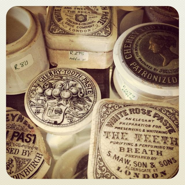 Old toothpaste containers, via The Caledonian Mining Expedition Company.