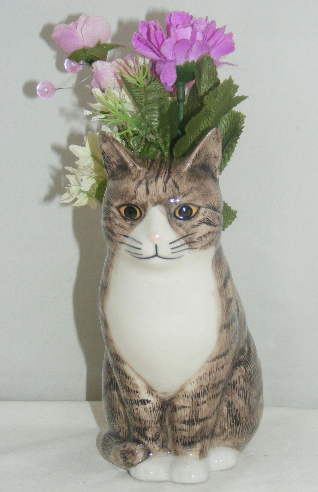 Quail ceramics moggy cat flower vase millie small 970 flower quail ceramics moggy cat flower vase millie small 970 reviewsmspy
