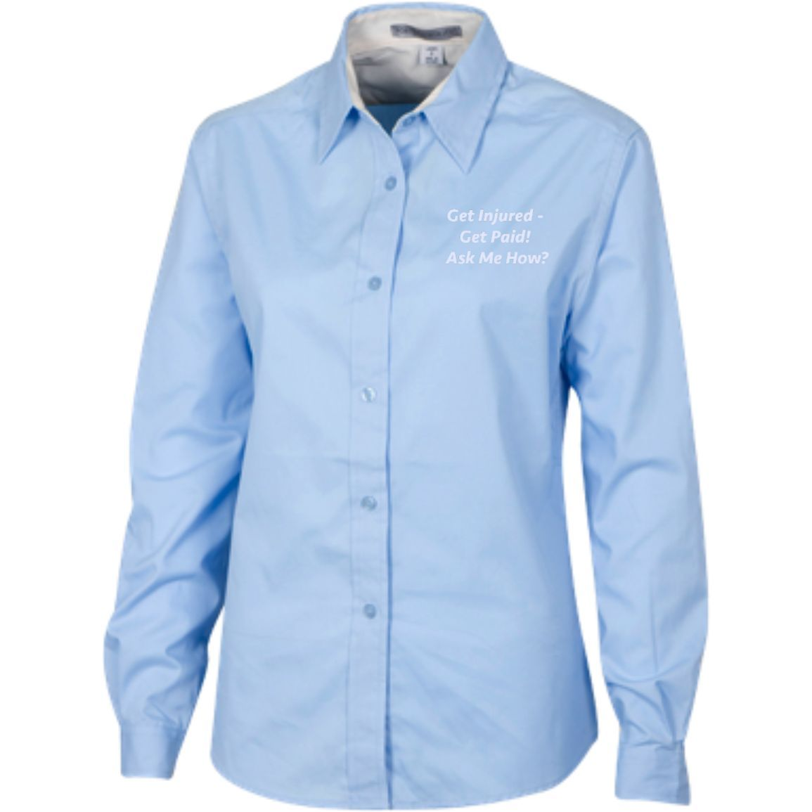 Financial Services Representative Marketing Apparel Ladies Customized Long Sleeve Blouse