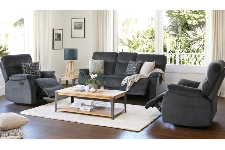 Truman 3 Piece Fabric Lounge Suite by Vivin | Harvey Norman New ...