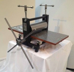 little thumper, table top press, etching printing press for