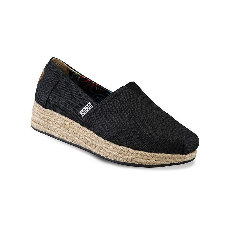 358b6cd390f5 Skechers BOBS High Jinx Women s Espadrille Wedge Slip-On Shoes ...