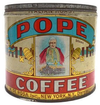 It's blessed! Pope Brand Coffee