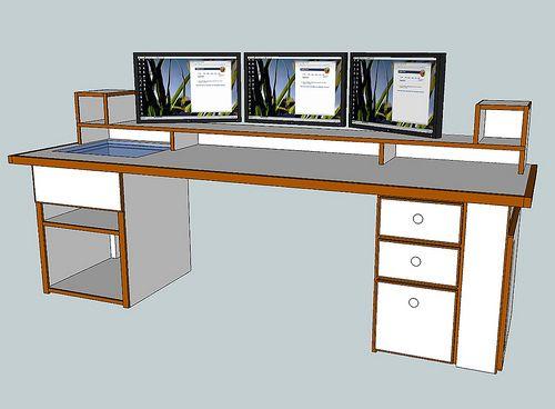 6 Foot Computer Desk Diy Computer Desk Diy Corner Desk Gaming Desk Diy