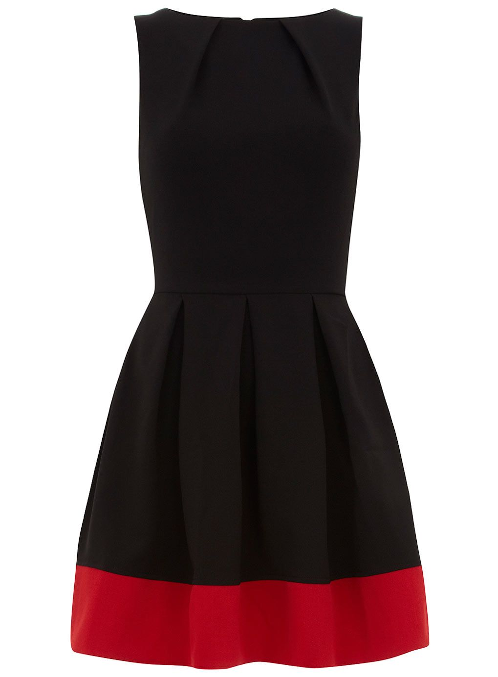 Black dress with touch of red - I Could Imagine This For A Black And Red Wedding Bridesmaid S Dress Contrast Hem From