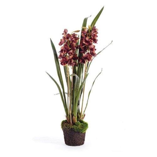 Napa Home And Garden Cymbidium X3 36 In Drop In Silk Plant Silk Plants Plants Artificial Orchids