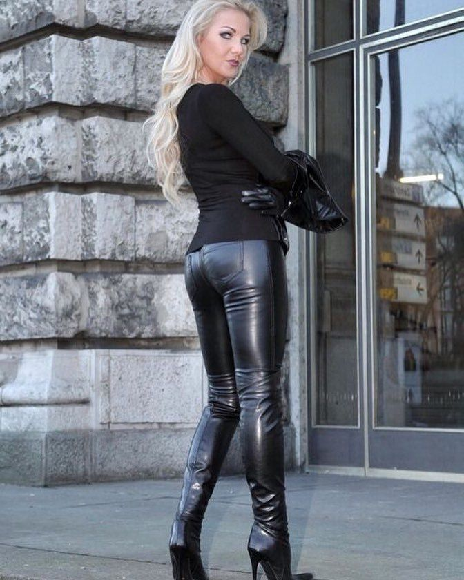 Stories slut wife leather pants
