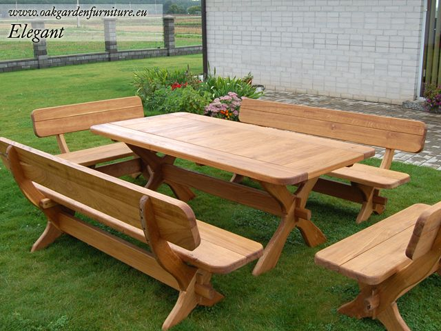 Wood outdoor furniture wooden garden furniture set 12 for Wooden outdoor furniture