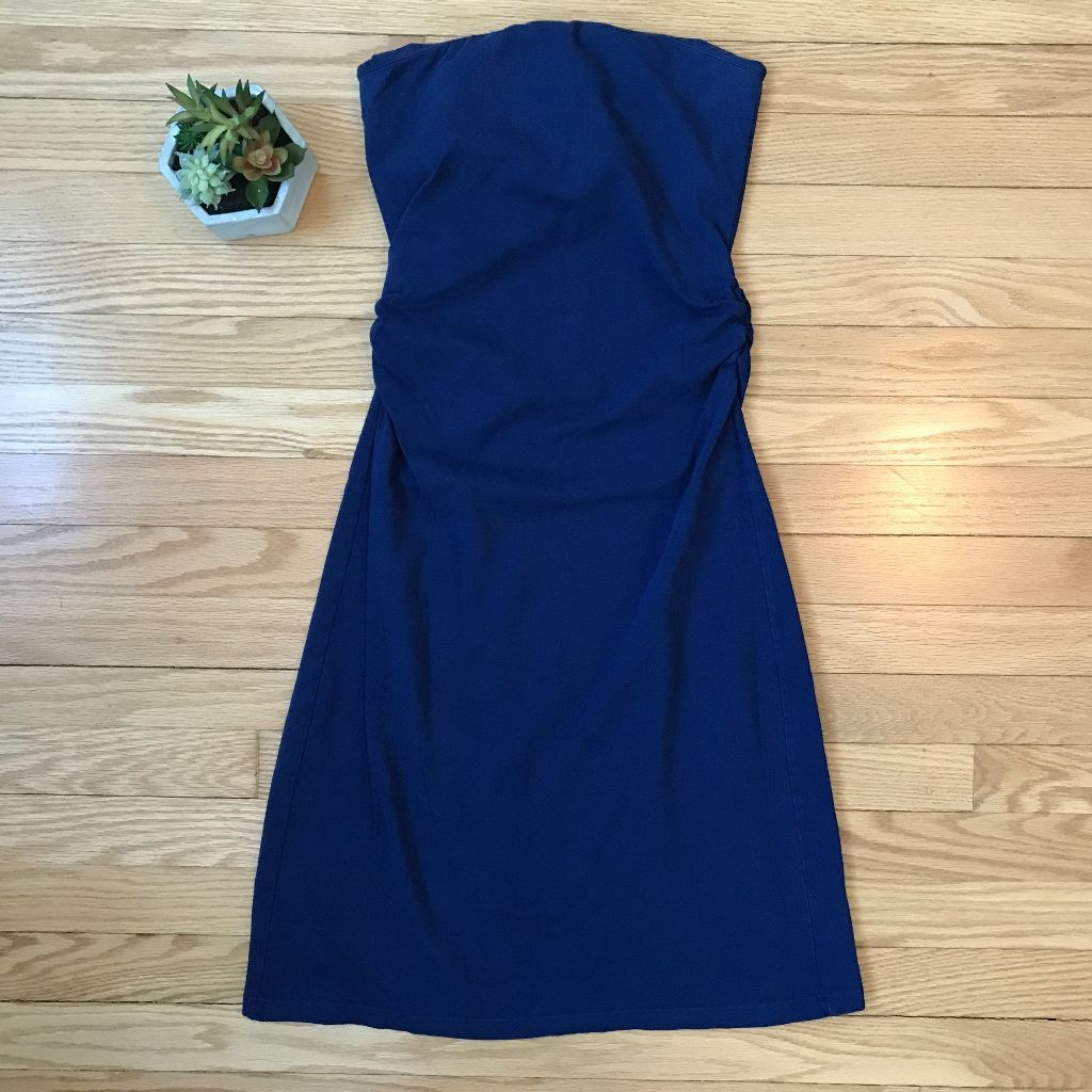 Victoria'S Secret Tube Dress Blue Small Strapless