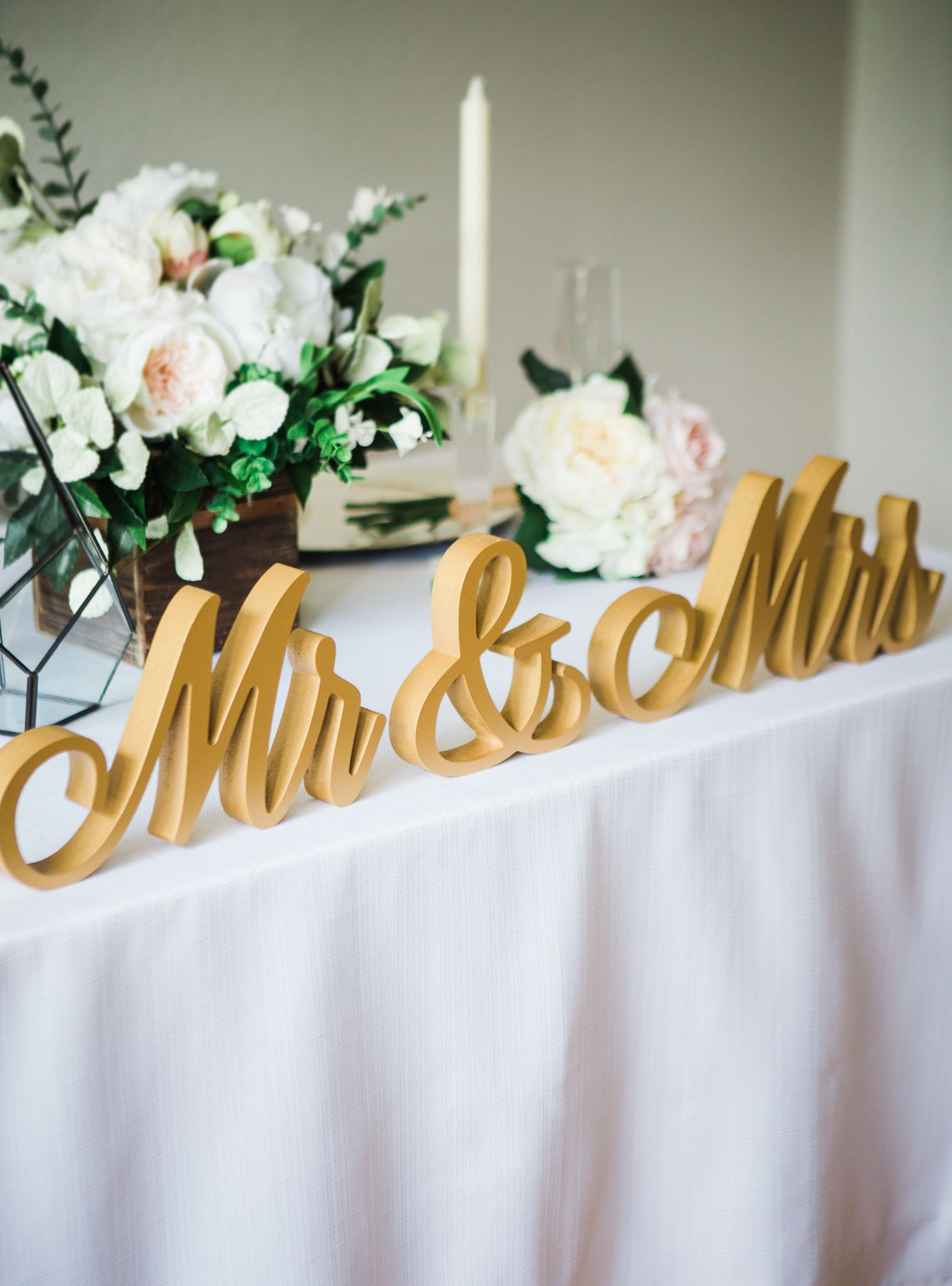 Script Mr And Mrs Wedding Signs For Wedding Sweetheart Table Etsy Sweetheart Table Wedding Personalized Wedding Decor Wedding Decor Photos