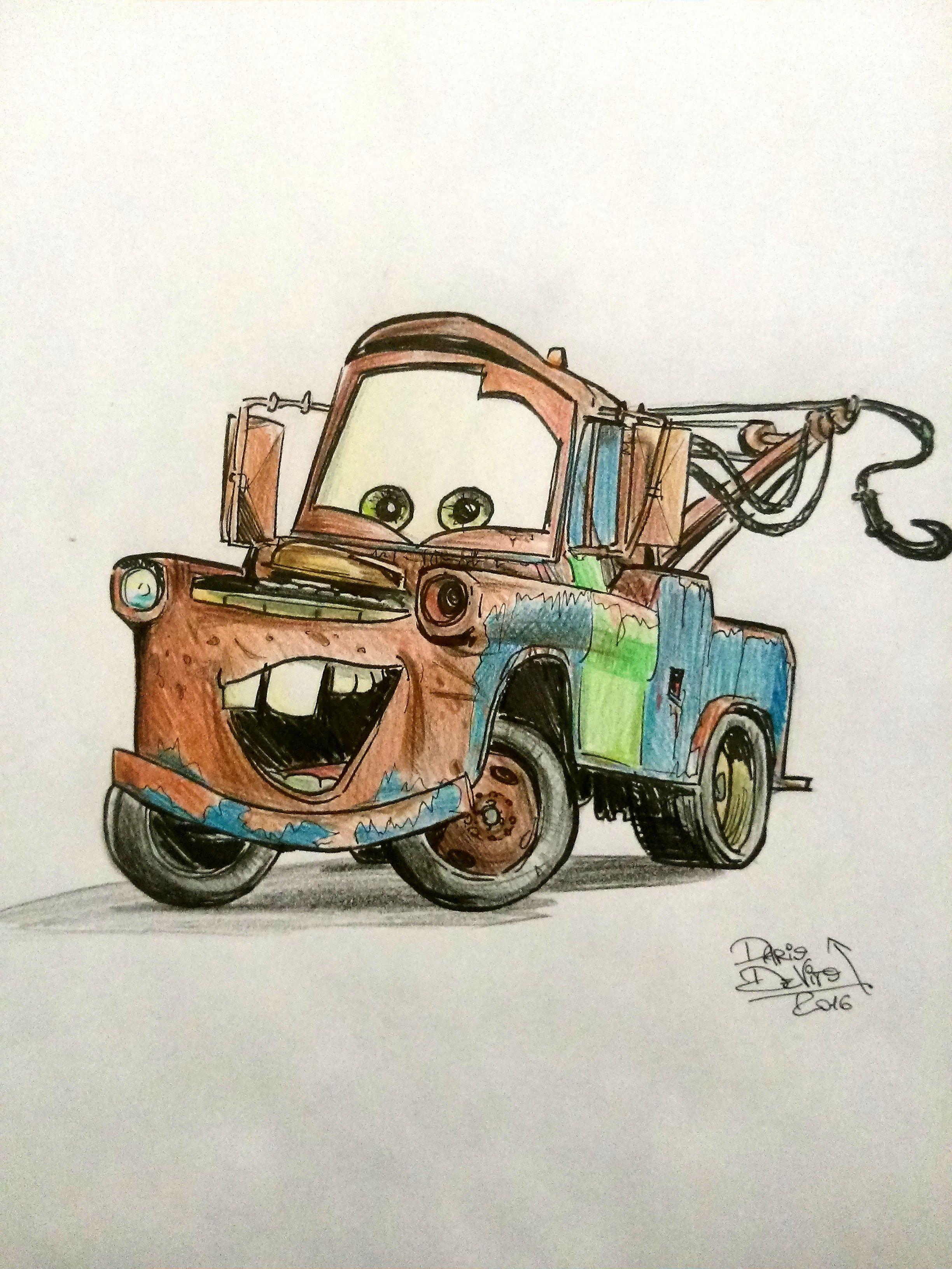 Sir Tow Mater Handmade Fanart Workoncommission Disney Cars