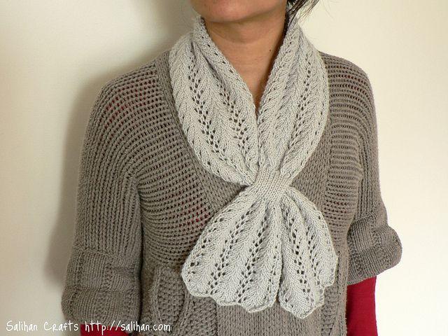 Lace Keyhole Scarf Knitted Stuff Pinterest Knitting Knitting