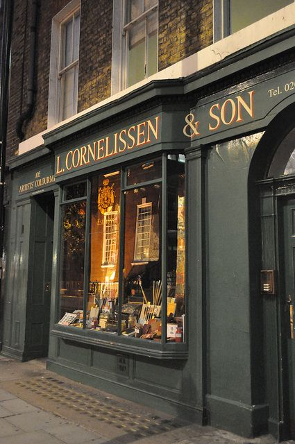 L Cornelissen Son Art Shop London Art Supply Stores British Shop