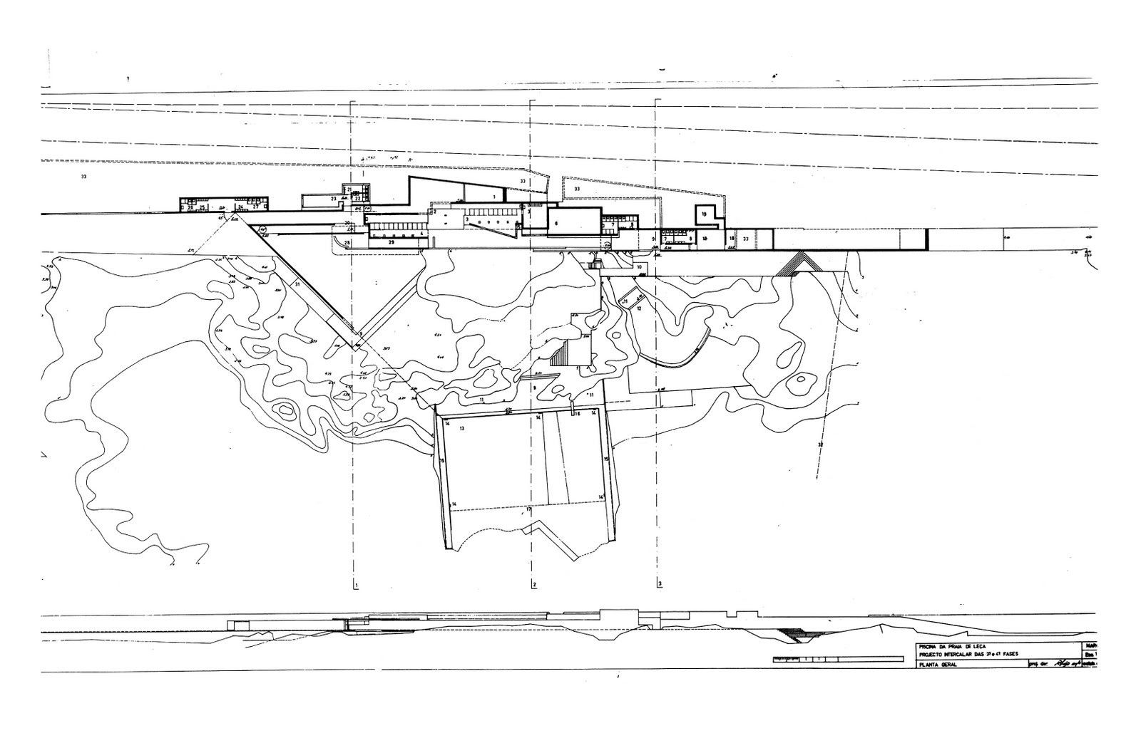 Alvaro Siza Leca Swimming Pools Plan