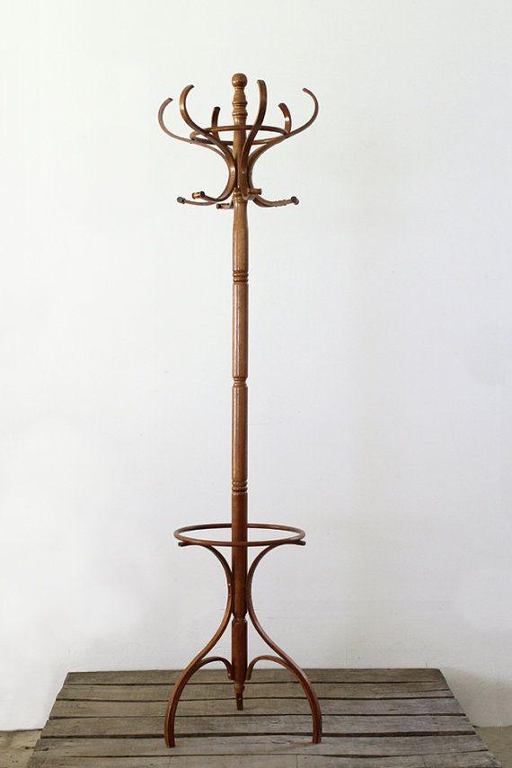 Vintage Bentwood Coat Rack Wood Rack Veshalka