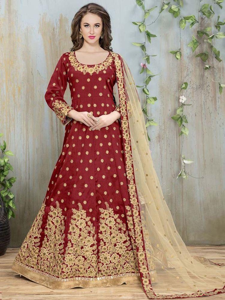 4854552ce85 Designer indian bollywood salwar kameez anarakli pakistani long womens dress   Shoppingover  SalwarKameez  WeddingPartywear