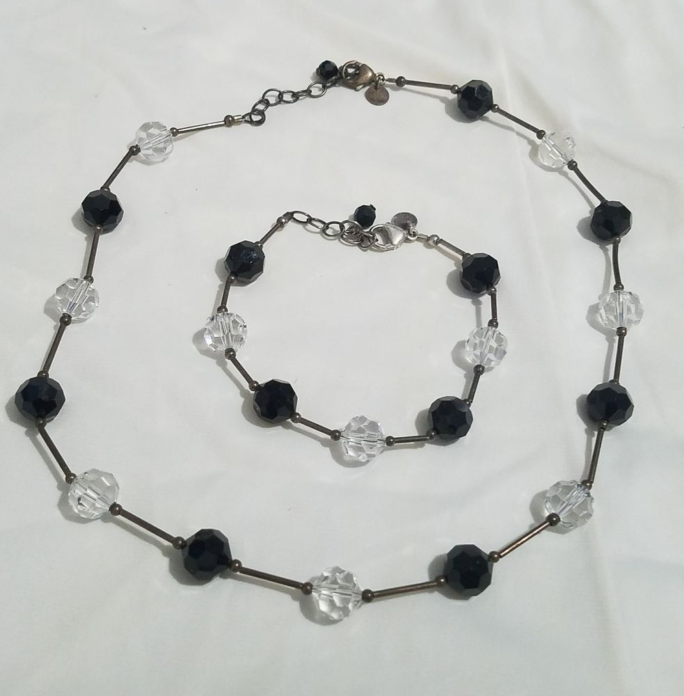 Emily Ray Swarovski Crystal Bead Necklace and Matching Bracelet Sterling  Silver  EmilyRay  SterlingSilverCrystals f142af0d3