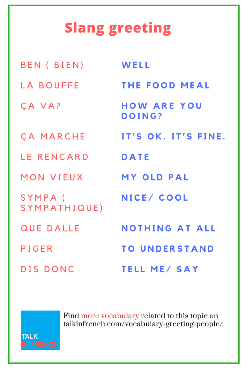This is how you can greet people in french check out cool slang this is how you can greet people in french check out cool slang kristyandbryce Gallery