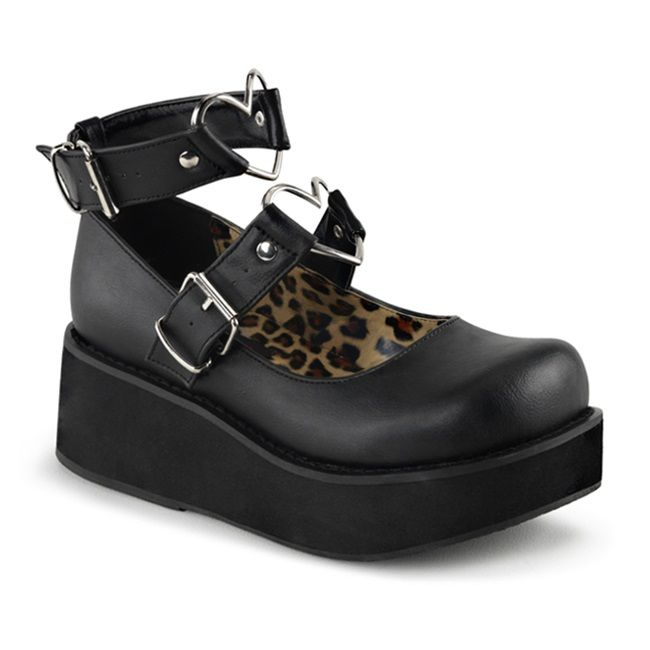 e5ea4606bb0 SPRITE-02 Black Heart Mary Jane Shoes in 2018