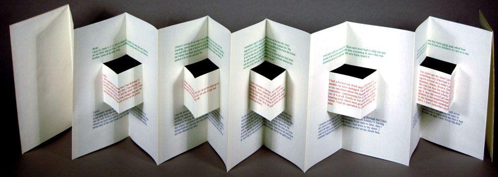 Naughty Dog Press Accordion Book Accordian Book Folded Book Art