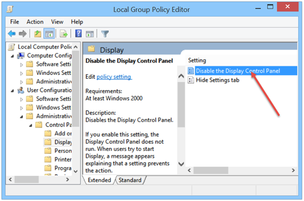 Cannot Open Display Settings In Windows Control Panel Control Panel Windows Display