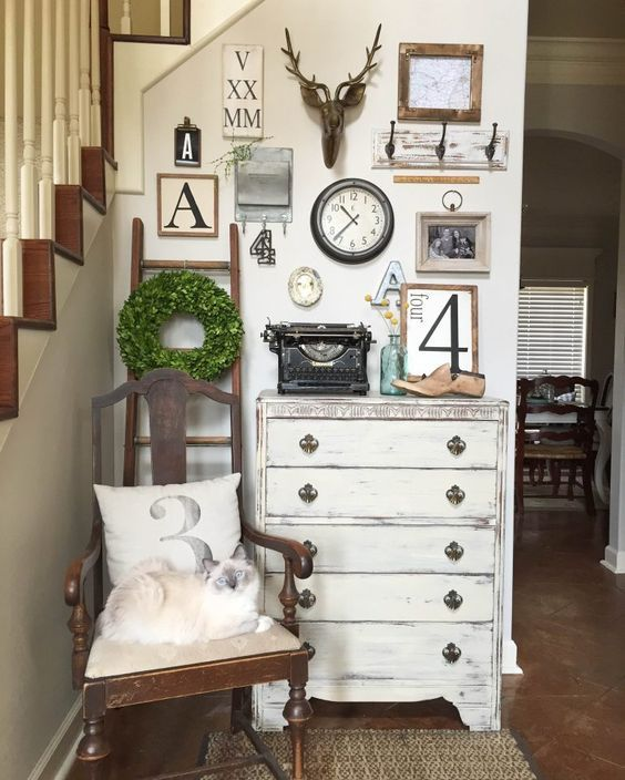 Farmhouse Style Gallery Walls | Gallery wall, Create and Walls