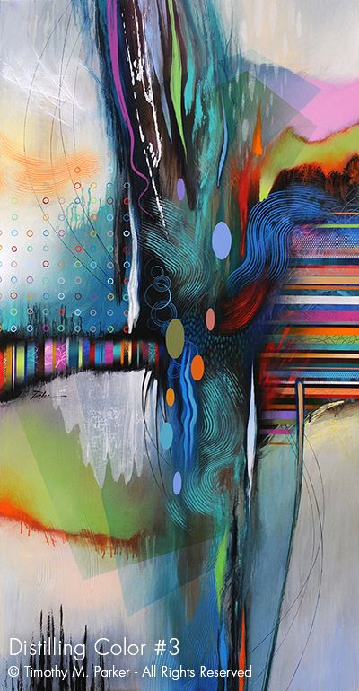 Distilling Color #3 • Abstract Fine Art Print • Free Shipping — Art2D Gallery Naples FL – Contemporary Fine Art Prints & Modern Abstract Artwork by Southwest FL Artist Timothy Parker