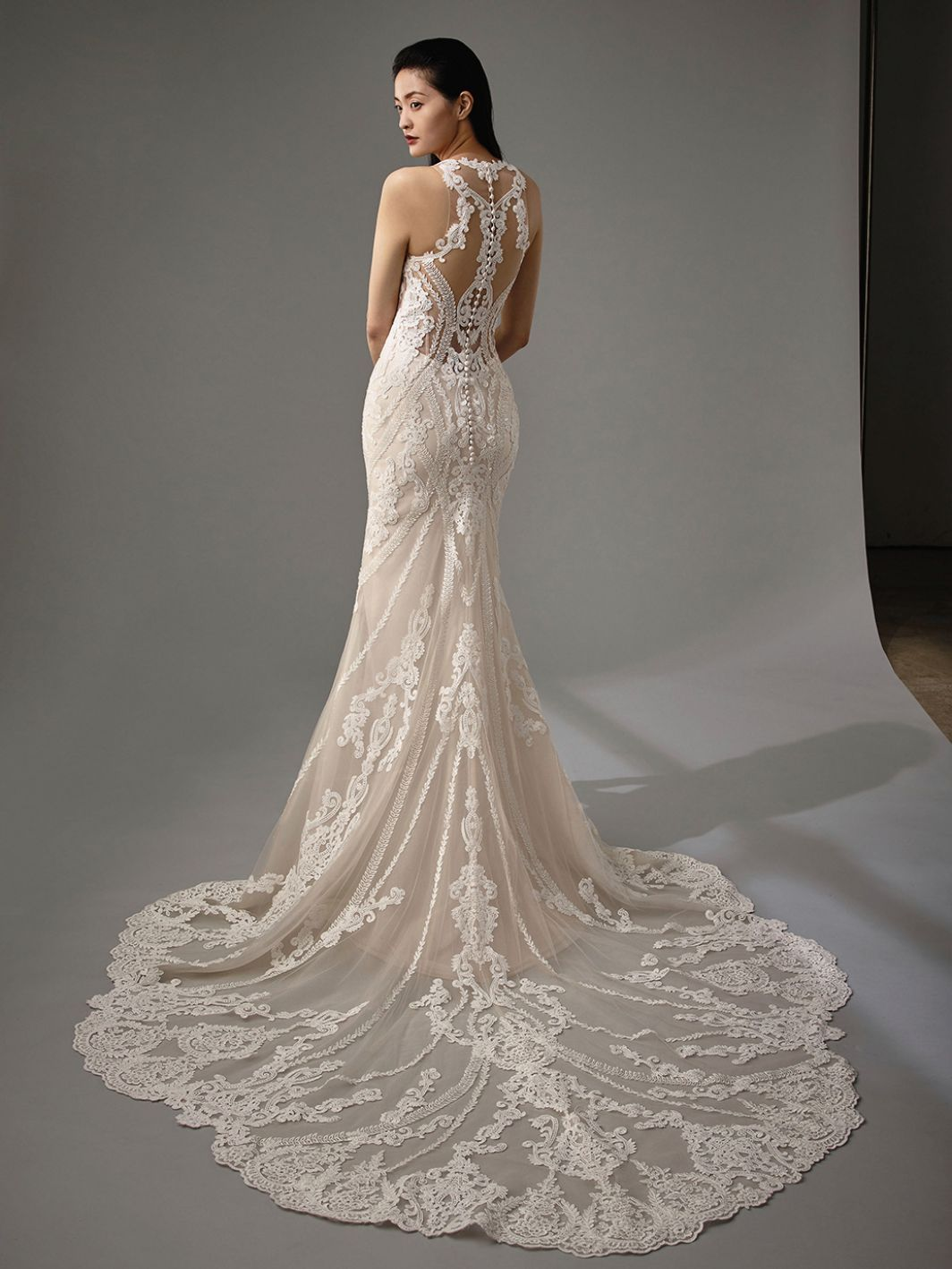 Lace Fit And Flare Gown In 2020 Wedding Day Dresses Enzoani Wedding Dresses Stunning Wedding Dresses