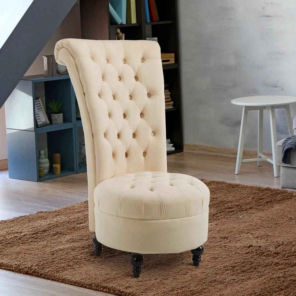 Details About Victorian Accent Chair Wooden Velvet Vanity Stool