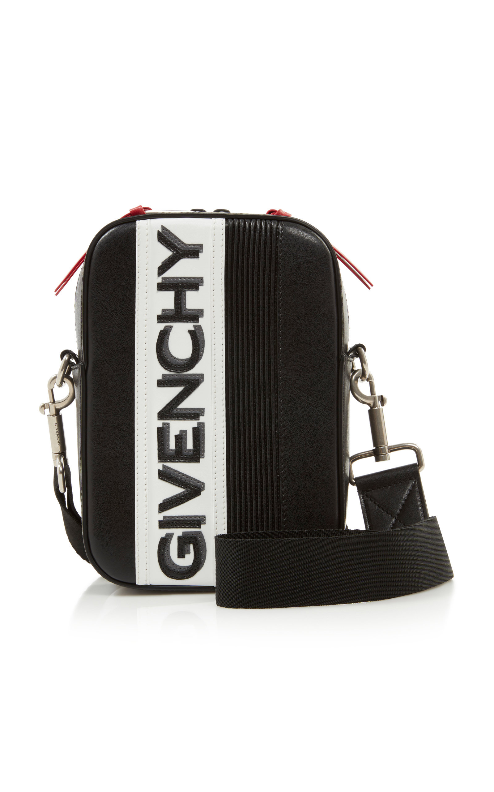 Givenchy Mc3 Leather Crossbody Bag In Black Modesens Leather Crossbody Bag Leather Messenger Bag Bags