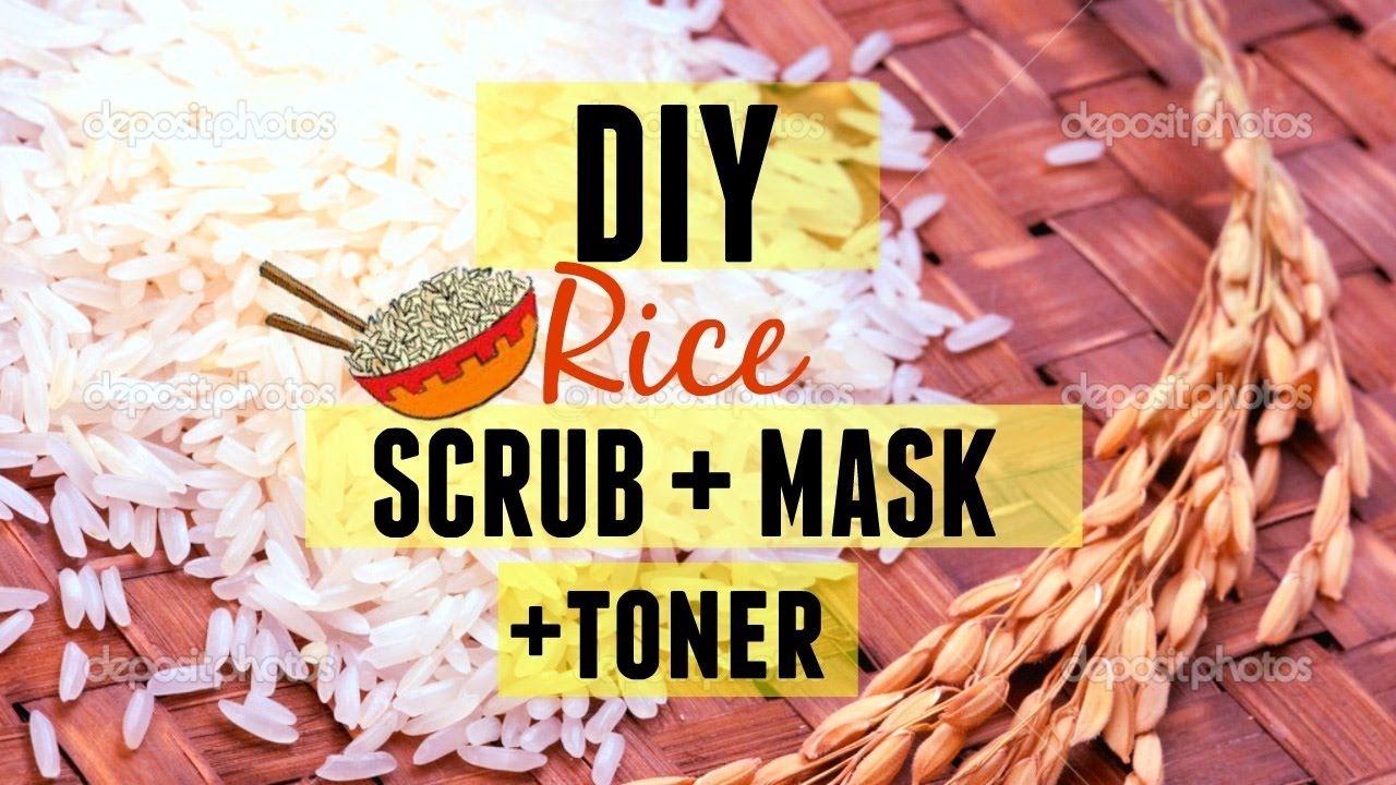 Diy rice scrub mask toner i lighten skin naturally i