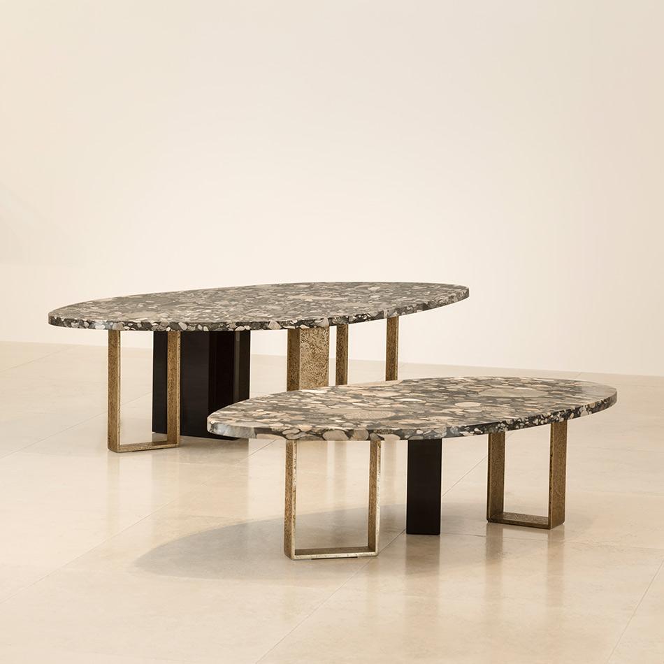 Edition Of 60 Marinace Gold Granite Top Blackened Varnished Pear Wood And Golden Brown Patinated Bronze L Coffee Table Herve Van Der Straeten Van Der Straeten [ 950 x 950 Pixel ]