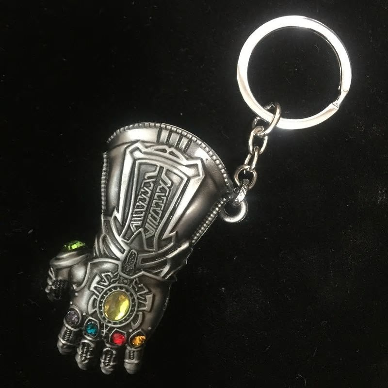 Avengers Infinity War Thanos Infinity Gauntlet Gloves Armor Model Keychain  Gold