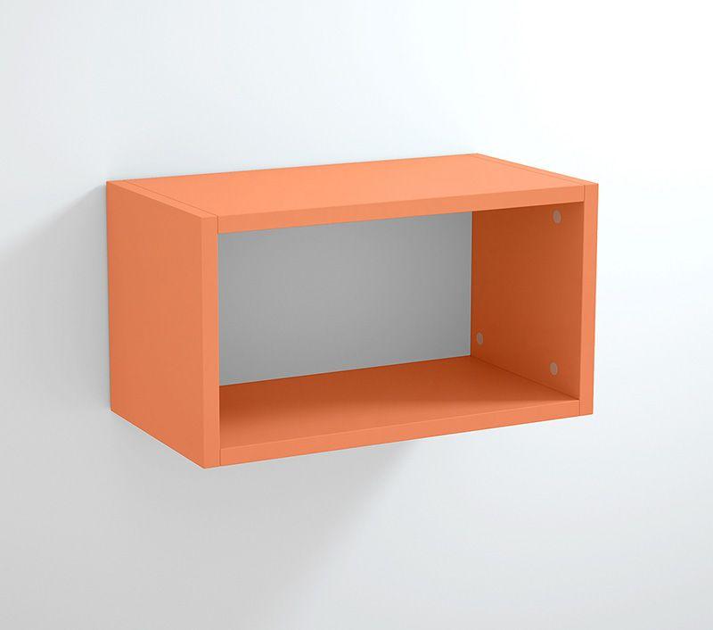 zeus mobile design pensile a giorno arancione arredamento moderno cucina bagno