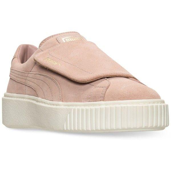 Suede Platform Strap Casual Sneakers