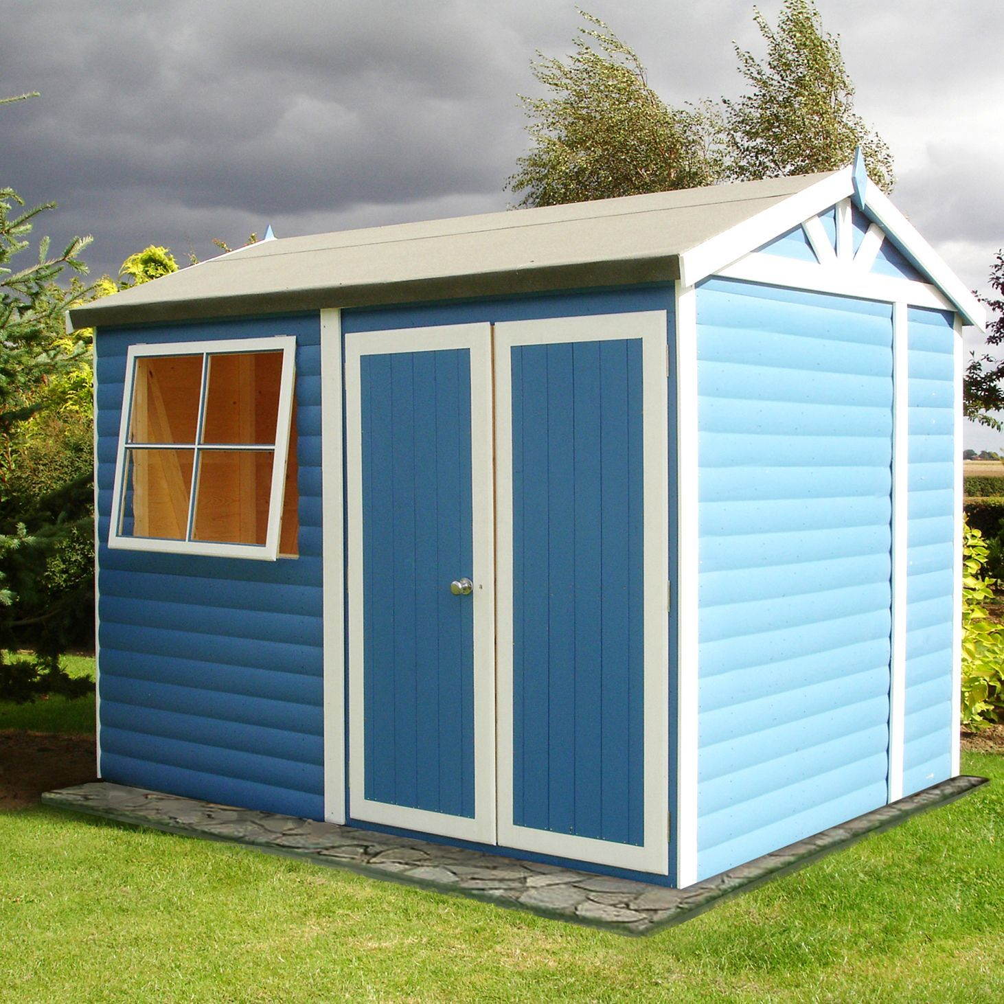 10x7 mammoth loglap timber shed with assembly service - Garden Sheds B Q