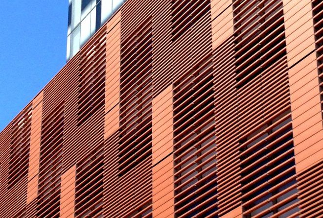 The terracotta facade of Church House, 565 Hay Street Perth by Cameron Chisholm Nicol.