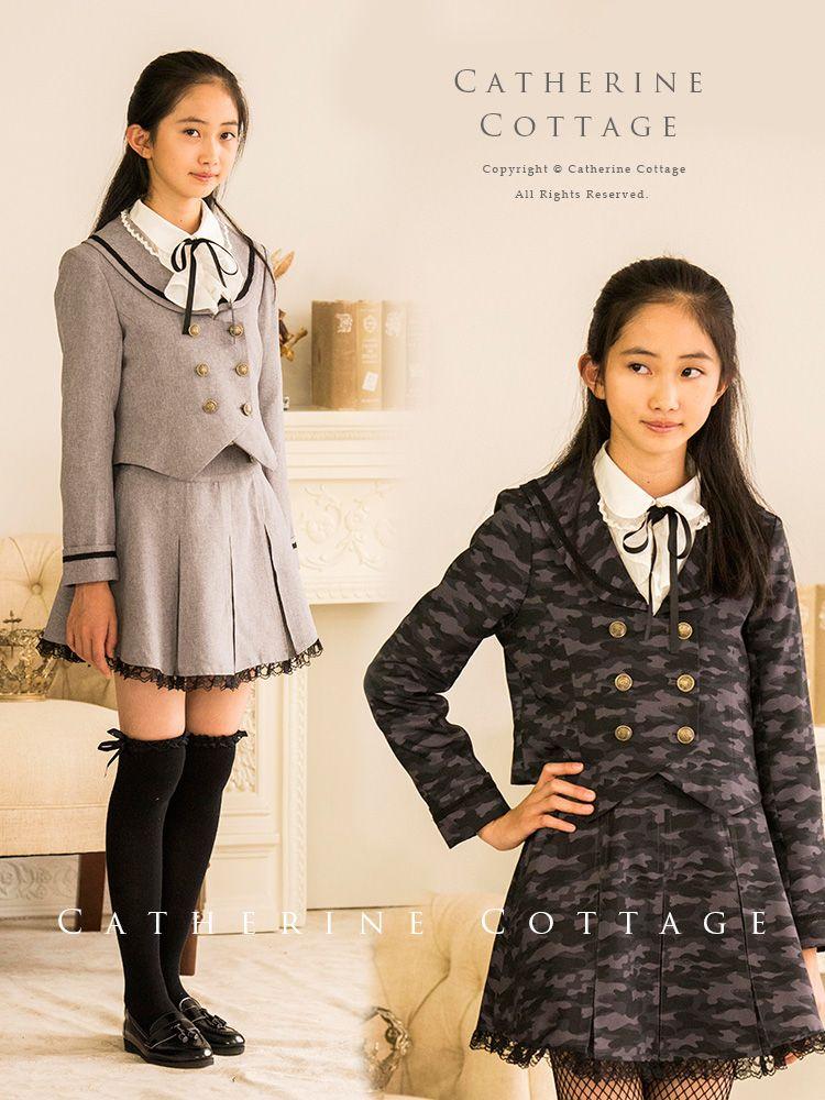 71cd3dae6e226 商品番号: TK1060 女の子スーツ 丸襟セーラーのダブルボタンスーツ2点 ...