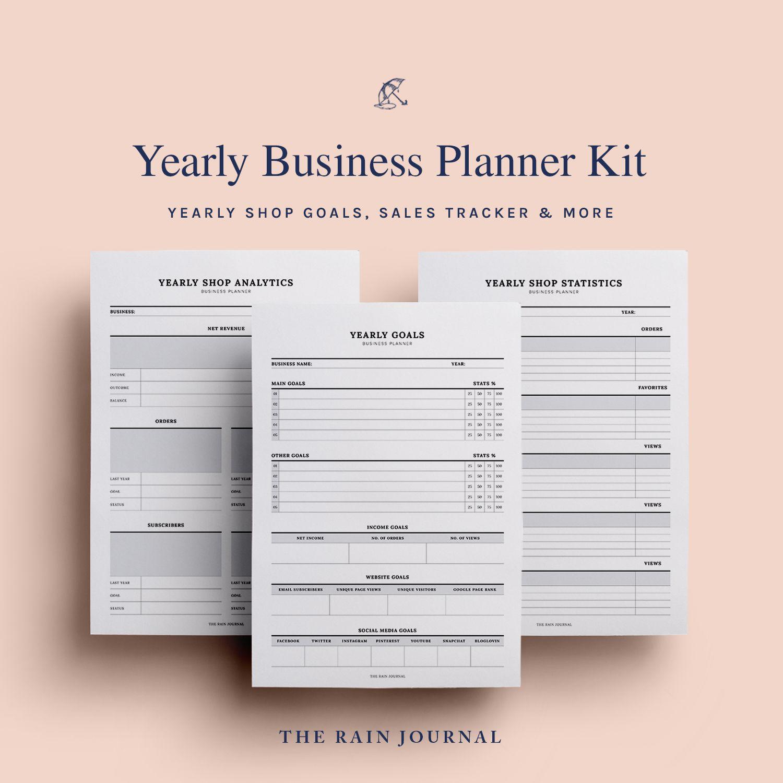 Business Planner Printable Blog Planner, Etsy Planner