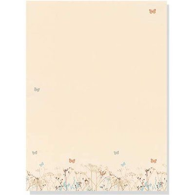 Butterfles Stationery Set  Sheets  Snail Mail Stationary And