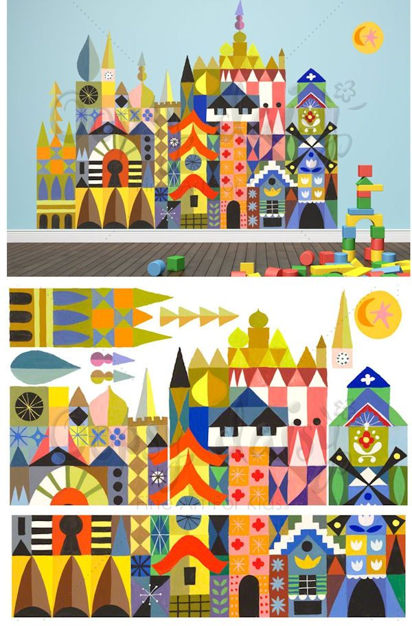Its A Small World Magic Facade Peel And Place Mary Blair Art