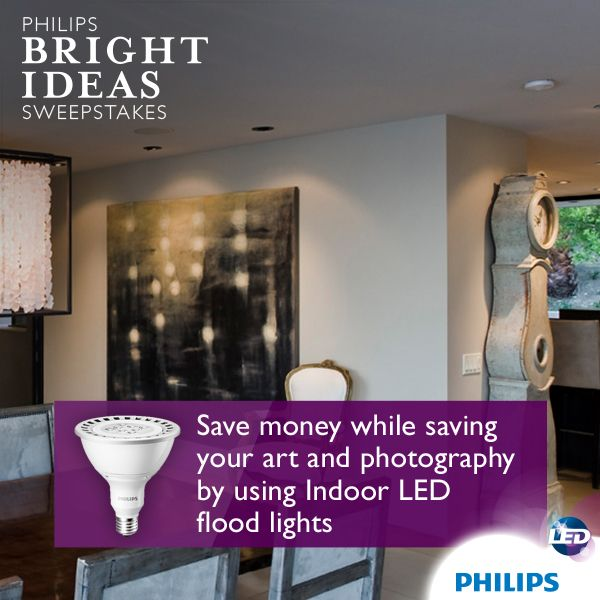 Philips Par38 Led Indoor Flood Lights Won T Damage Or Fade Art And Photography Over Time Giving You More Oppor Flood Lights Lighting Makeover Led Flood Lights