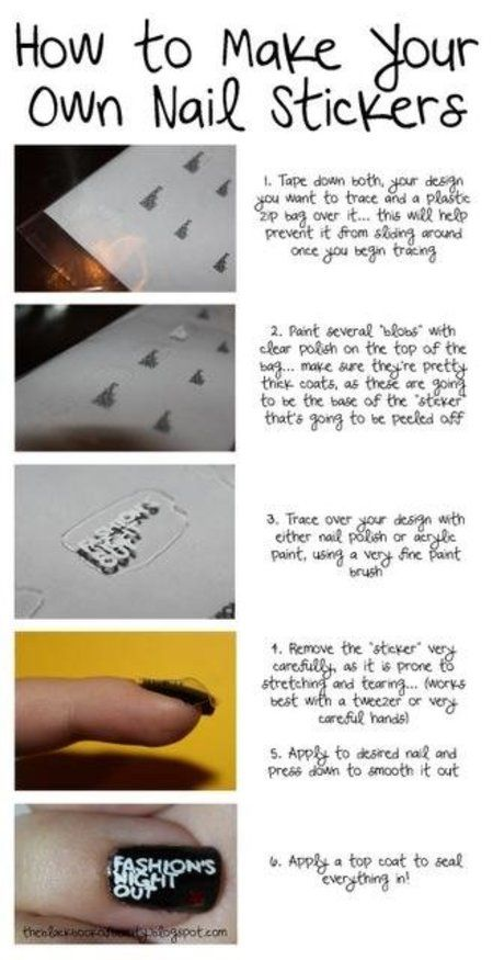 LEARN SOMETHING COOL TODAY! :)Cool tutorial to make your own nail ...