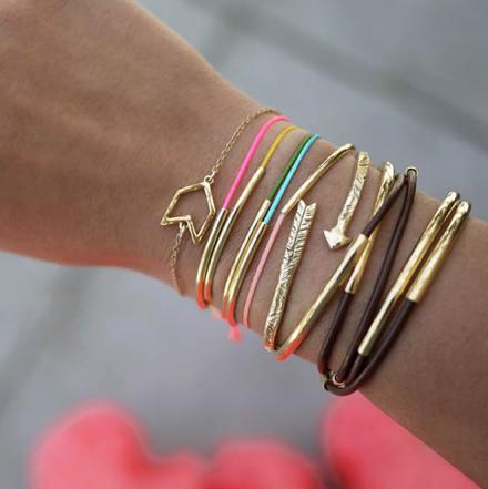 diy gold tube bracelets tutorials bracelets and craft