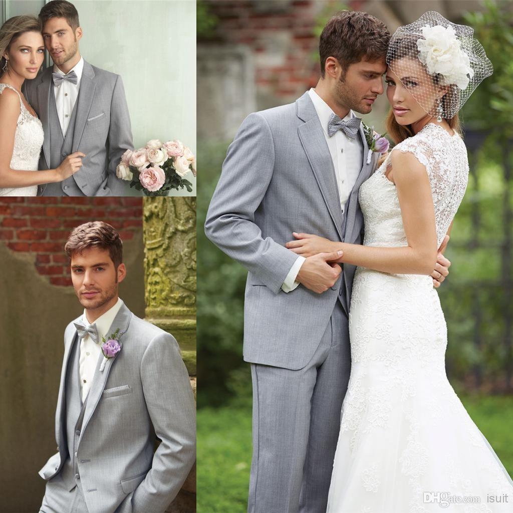 Black dress navy suit - Discount Tailor Suits Tux Groom Tuxedos Cheap Bridegroom Morning Mens Blazers Wedding Suit For Men Grey
