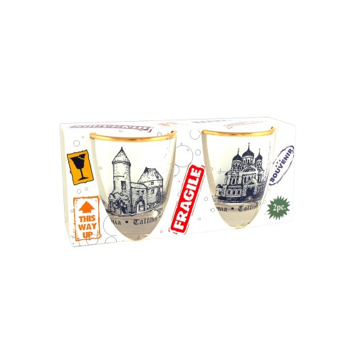 Shot Glasses Set With Tallinn Old Town Shot Glasses Old Town