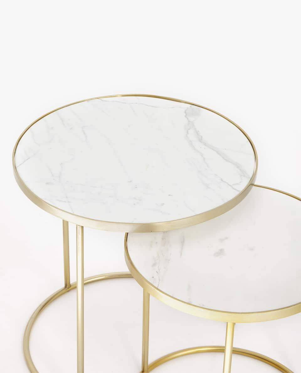 Image Of The Product Marble Nesting Tables With Golden Base Set Of 2 Zara Home Coffee Table Home Coffee Tables Zara Home Marble Table [ 1190 x 960 Pixel ]